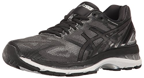 ASICS Women's Gel-Nimbus 19 Running Shoe, Black/Onyx/Silver, 6 M US