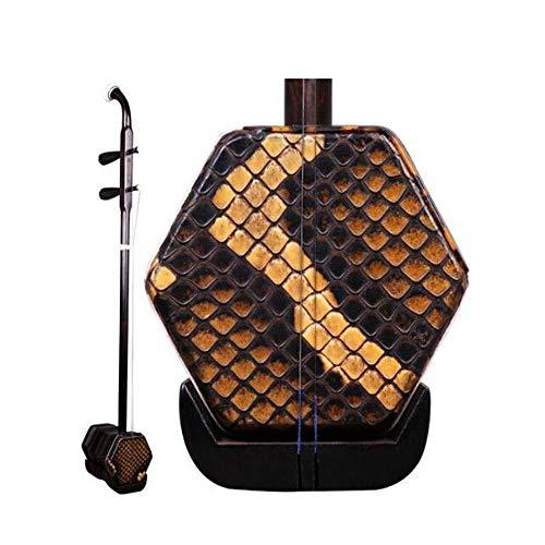 Erhu, Ebony Erhu, Suzhou Professionell spielen Erhu Instruments, National Instruments, senden Original-Zubehör (Farbe: Schwarz lila) HUERDAIIT (Color : Black Purple)
