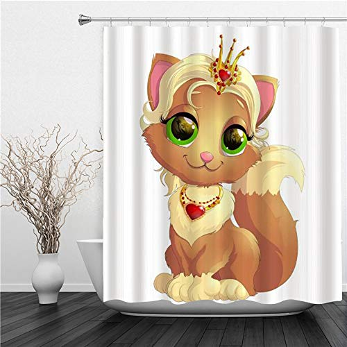 AIMILUX Duschvorhang 180x180cm,Cartoon Eichhörnchen Märchen,Duschvorhang Wasserabweisend-Duschvorhangringen 12 Shower Curtain mit