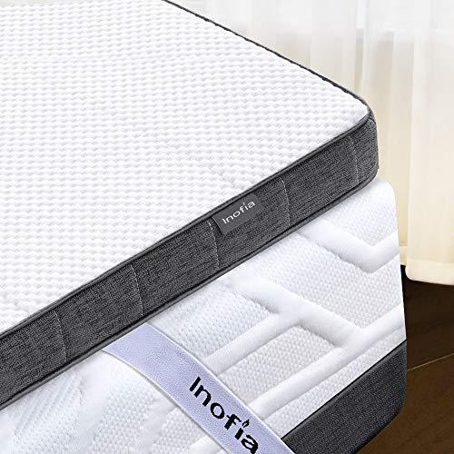 Inofia Gelschaum Topper 140x200 Matratzenauflage Matratzentopper Memory Foam Topper 7,5cm|2 Layer RG50 Gelschaum+ Support Foam|waschbar Bezug|100 Nächte Probeschlafen|10 Jahre Garantie