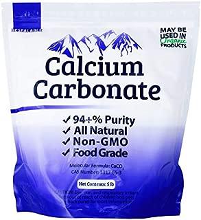 Duda Energy FGcc5f Food Grade 97+% Calcium Carbonate from Ground Limestone, 5 lb.
