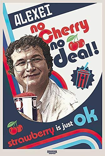 "POSTER STOP ONLINE Stranger Things - TV Show Poster (Season 3 - Alexei No Cherry, No Deal!) (Size 24 x 36"")"