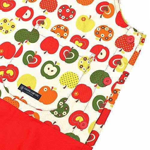 カラフルキャンディスタイル『保育士エプロンおしゃれリンゴのひみつ』
