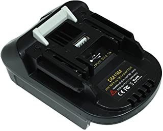 DM18M Battery Adapter for Makita 18V Lithium Battery Power Tools Use,Convert with Dewalt 18V 20V or with Milwaukee 18V Li-...