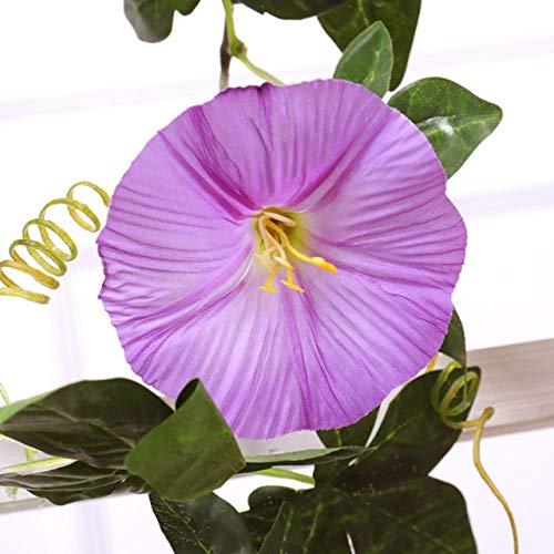 GGDMLJH Kunstmatige nep bloem Simulatie Ochtend Glorie Rotan Decoratieve Nep Bloem Indoor Airconditioning Pijp Blokkeren Verwarming Kunststof Bloem Plant Wijnstok Paars