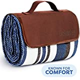 Extra Large Picnic & Outdoor Blanket Dual Layers for Outdoor Water-Resistant Handy Mat Tote Spring...