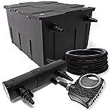 Kit de Filtration avec Bio Filtre 60000l, 24W UV Stérilisateur, 80W Pompe et...