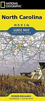 North Carolina  National Geographic Guide Map
