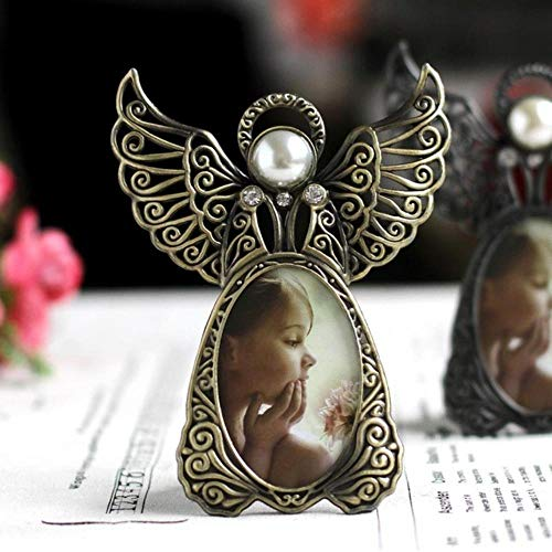 Metalen Vintage Mini fotolijsten Mooie Engel Stijl Klassieke Foto Frame voor Home Decor en Geschenken Marco De Fotos 3 inch Fang Gu Jin