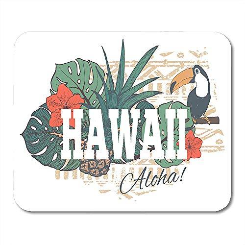 Mousepad Luau Hawaiian Vintage Tropical Exotic Hawaii Für Slogan Blume Bürobedarf Desktop-Computer Matten Mauspads Notebooks 25X30Cm