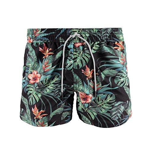 Brunotti Herren Badehose Crunot Allover Shorts, Black, XXL