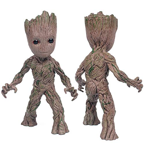 SHOUban Modèle Anime Action-Figuren, Baby Groot Nettes Modell Spielzeug Guardians of The Galaxy Kinder (Einhand)