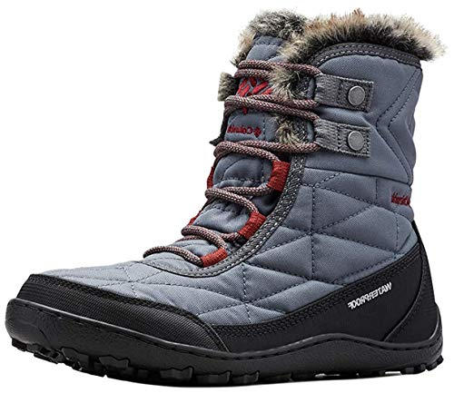 Columbia Women's Minx Shorty III Snow Boot, Waterproof & Breathable, Graphite/Deep Rust, 5 Regular US