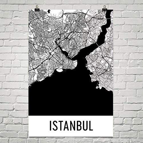 Modern Map Art Istanbul Map, Istanbul Art, Istanbul Print, Istanbul Turkije Poster, Istanbul Wall Art, Kaart van Istanbul, Istanbul Gift, Istanbul Poster