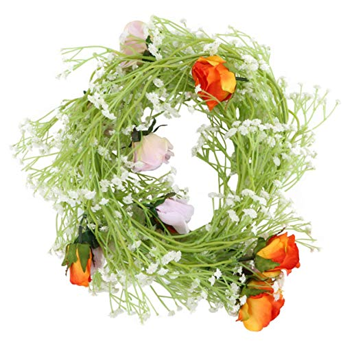 Artificial Fake Food Vegetable Toy Artificial Flowers Silk Vine Ivy Leaves Garland Plants Greenery Fake Hanging Vines for Wedding Kitchen Home Party Decor Colorful