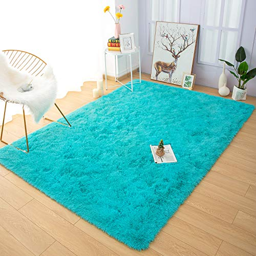 YOH Fuzzy Soft Modern Shaggy Area Rugs, Non-Slip Plush Fluffy Bedroom Furry Fur Rugs, Indoor Comfy Accent Floor Carpet...