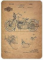eiwasailsors ハーレーダビッドソン Harley-Davidson バイク オートバイ ポスター メタルサイン  金属 TIN SIGN お部屋 お店 壁飾り 個性 インテリア アメリカ雑貨 アメリカンブリキ看板 レトロ調  20x30cm eiwasailsors