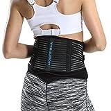 VTG Back Brace Lumbar Support Belt for Women Men Lower Back Pain, Sciatica, Scoliosis, Herniated...