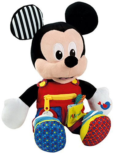 Baby Clementoni- Mickey Peluche Primeros apredizajes37x26 Mouse aprendizajes, Multicolor (55207.8)