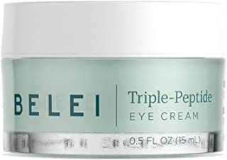 Belei by Amazon: Triple-Peptide, Paraben Free Under Eye Cream for Fine Lines, Puffiness and Dark Circles, 0.5 Fluid Ounce (15 mL)