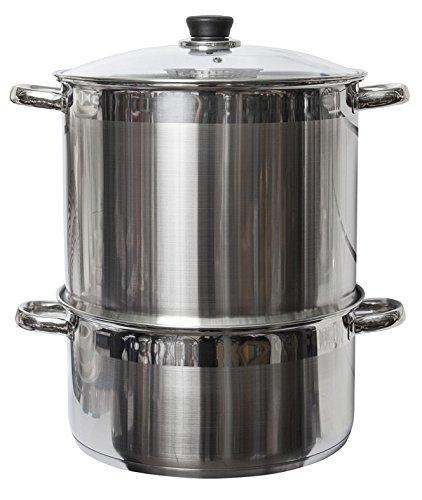 Uzbek 5 Etagen/Level 20 qt. Dampfgarer aus 18/10 Edelstahl für Klöße, Mantovarka, Manti