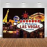 Mehofoto Sfondo di compleanno del casinò di Las Vegas 2.2 * 1.5 m Vinile Casino Tema Compleanno Fotografia Sfondo Decorazioni per banner per feste