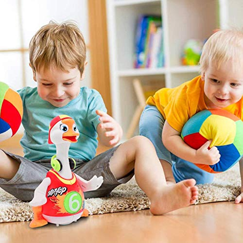 ACTRINIC Baby Musical Toys 18 plus months Early Education Funny Dancing Hip-Hop Swing Goose ,Music/Walking/Flashing Lights,Best Gift for 1 2 3 Years Old Boys Girls Toddler Toys(Random Color)