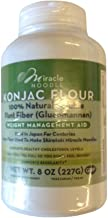 Miracle Noodle Konjac Flour, 8 oz, 100% Natural Soluable Plant Fiber, Low Calorie