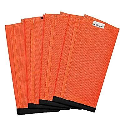 Shoofly Horse Leggins; Prevent Paintful Fly Bites, Reduces Stress & Stomping, Chemical-Free Plastic Mesh Material, Heavy-duty Velcro (Medium/Orange)