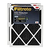 Filtrete AOR01-2PK-6E 16x25x1, AC Furnace Air Filter, MPR 1200, Allergen Defense Odor Reduction, 2-Pack, 16 x 25 x 1, 2 Pack