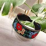 Turbantes para Mujer Diademas Diademas De Flores Bordadas, Accesorios De Estilo De Diadema para Mujer, Diadema Colorida para El Pelo, Banda para El Cabello-5