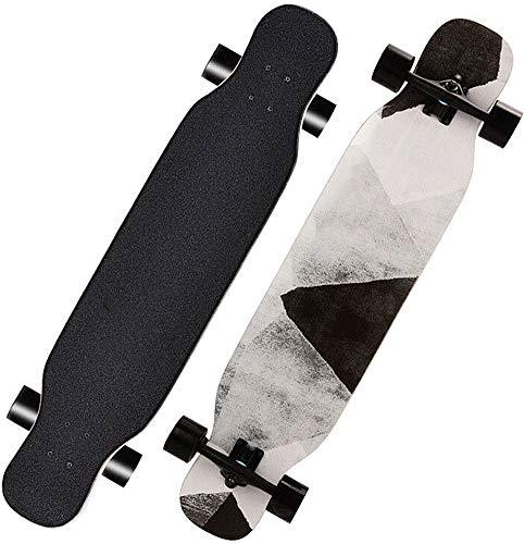 Longboard Skateboards Dance Skate Board Komplett Cruiser Tanzen Longboard Ahornholz Outdoor Freeride für Jugendliche Erwachsene Kinder Anfänger Erwachsene Jungen Mädchen (Stein)
