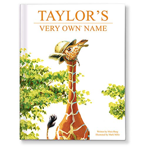 Personalized Children's Book and Baby Shower Gift, Unisex Baby Gift Boy Girl, My Very Own Name Giraffe