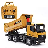 TongLi 1582Professional 1:14 Scale RC Mental Dump Truck Remote Control Toy Construction Vehicle Collection Item Holiday Present 2.4 GHz Upgraded
