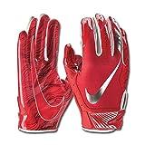 Men's Nike Vapor Jet 5.0 Football Gloves University Red/Chrome Size X-Large