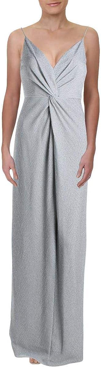 Adrianna Papell Womens Glitter Jersey Evening Dress