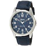 [シチズン Q&Q] 腕時計 アナログ 防水 革ベルト QB38-315 メンズ ネイビー