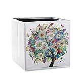 SunshineFace Caja de Almacenamiento de Pintura de Diamante Diy Organizador de Patrón de Árbol Contenedor de Artículos Diversos Decoración para El Hogar