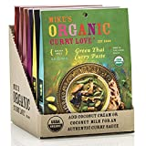 Variety 6 Pack of Curry Pastes ORGANIC. VEGAN. DAIRY FREE. SUGAR FREE. KETO FRIENDLY. MADE IN THAILAND. | case of 6 x 2.8 oz pouches