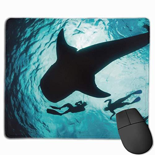 Alfombrilla de ratón para bucear Ballenas con Base de Goma Antideslizante - Ordenador portátil para Juegos