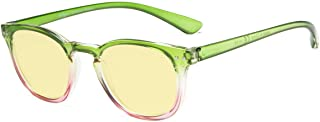 Eyekepper Blue Light Blocking Computer Glasses Digital Eye Strain Prevention-Yellow Tinted Lens Reading Glasses (Green-Pin...