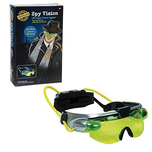 Funtime EG7975 Spy Googles de visión Nocturna con Luces LED de Alta Potencia, Verde Fluorescente, Gris/Negro