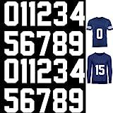 22 Pieces Iron on Numbers T-Shirt Heat Transfer Numbers 0 to 9 Jersey Numbers Soft Iron-on Numbers for Team Uniform Sports T-Shirt Football Basketball Baseball (White,8 Inch)
