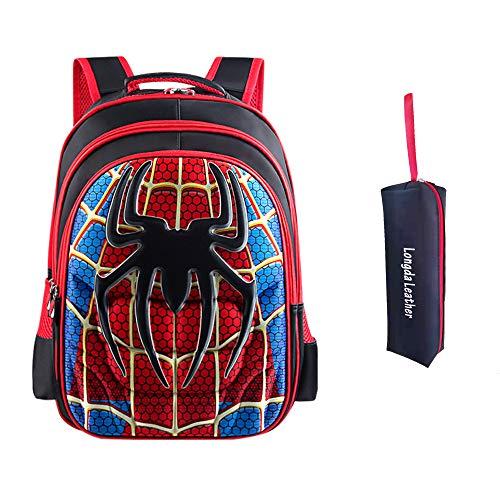 Anime 3D Mochila para niños Mochila primaria superhéroe Spider man mochila para niños