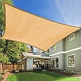 Tikola 3x4m Toldo Rectangular de 98% Resistente UV Vela de Sombra, Toldo para Terraza, Patio Trasero, Jardín,90% de Tasa de Protección Solar