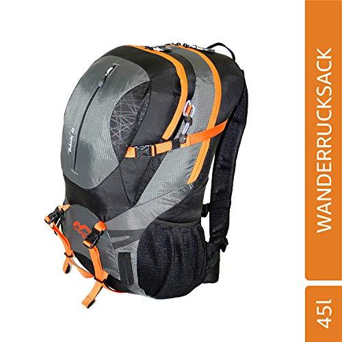 MONTIS DAKADA 45, Unisex Trekking-Rucksack, Wander-Rucksack & Reise-Rucksack in einem, ermöglicht dank Regenschutz auch Bike- & Campingtouren, im Militär-Rucksack Look mit viel Extras & Belüftungssystem