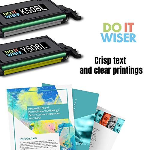 Do It Wiser Compatible Toner Cartridge Replacement for CLT-Y508L Samsung CLP-620ND CLX-6220FX CLX-6250FX CLP-620 CLP-670 CLP-670N CLP-670ND | Yellow Photo #4