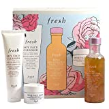 Fresh Cleanse and Hydrate Set - Soy Face Cleanser, Rose Deep Hydration Facial Toner, Rose Face Mask