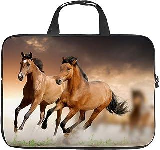 Neoprene Sleeve Laptop Handle Bag Handbag Notebook Case Cover Two Arabian Horse Portable MacBook Laptop/Ultrabooks Case Ba...