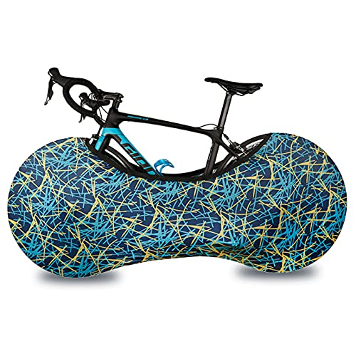 Telo protettivo per bicicletta, blu, interno e esterno, per bicicletta, lavabile, antigraffio, elastico